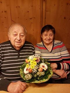 Jubilar Johann und seine Frau Gretl Schennach