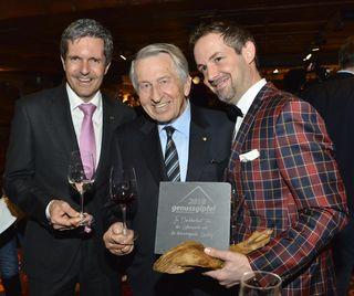 Dir. Robert Frießer, KR Peter Morandell (Morandell Weine), Michael Jank (GF Plangger Delikatessen).