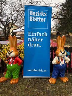 """Mittendrin - statt nur dabei. Auch bei den Osterhasen hieß es """"Einfach näher dran"""" in Großpetersdorf"""