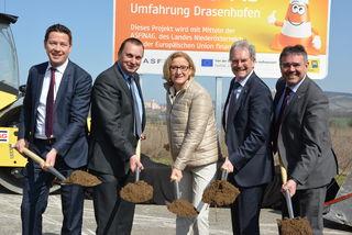 Kurt Hackl, Reinhard Künzl, Johanna Mikl-Leitner, Karl Wilfing und Manfred Schulz