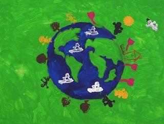 """Das Titelbild der Ausstellung - """"Frieden auf Erden"""" (Dijana Mujkic)"""