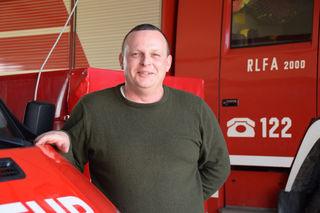 Feuerwehrkommandant Florian Breier ist mit seinem Kameraden sofort zur Stelle, wenn es brenzlig wird.
