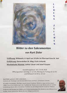 Die Einladung zur Ausstellungseröffnung