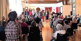 Die Volksbühne gastierte im Pflegeheim.