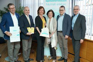 v.l.n.r.: Norbert Kreillechner, MSc (NÖGKK), Prim. Univ.-Doz. Dr. Johann Pidlich (LK Baden-Mödling), Angela Stöckl-Wolkerstofer (GR), Dr. Doris Simhofer (Moderation), OA Dr. Wilhelm Wlassits, MSc (Referent) und KR Michael Pap (Obmann-Stv. NÖGKK)
