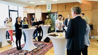 Freudige Erwartung: Sowohl die teilnehmenden Start-Ups als auch die WOCHE-Graz-Redaktion waren motiviert.