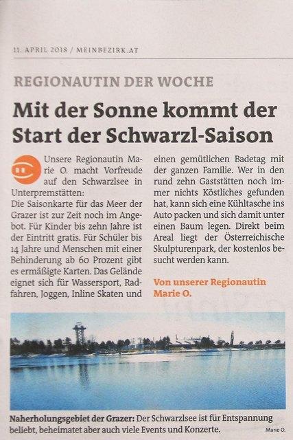 Dankeschön, an die Redaktion der Woche Graz-Süd.