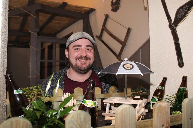 Besonders stolz ist der junge Gastwirt auf seinen kleinen Biergarten