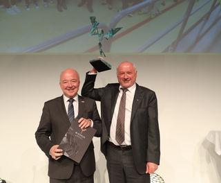 WKS-Präsident Konrad Steindl und Samson-Druck-GF Gerhard Aichhorn.