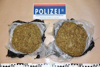 Mit über 2 Kilo Cannabis im Wert von 20.000 Euro wurde ein Italiener in der Nähe des Bahnhofes Klagenfurt festgenommen.