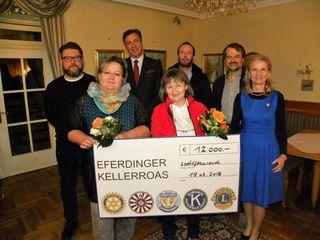 12.000 Euro sammelten die fünf Eferdinger Service-Klubs Soroptimist Club, Round Table 46 Eferding-Donautal, Lions Club, Kiwanis Club und Rotary Club.