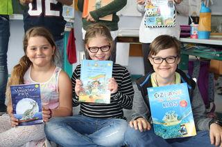 Lesestars: Leonie, Valerie und Jaron.