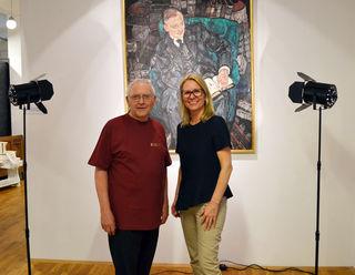 Museumsleiter Anton Pribila und Bürgermeisterin Natascha Matousek.