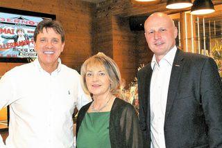 Gernot Schidt, Gabi Lechner und Bürgermeister Reinhard Deutsch bei der Eröffnung.