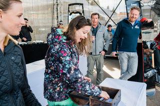 Gewinnerin Klara Novoselc freut sich sichtlich.