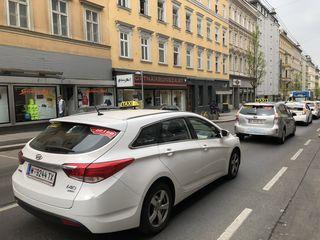 Taxi-Demo auf der Favoritenstraße