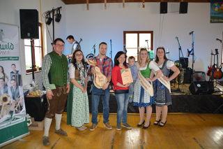 Mostprämierung in Scheibbsbach: Familie Heigl aus Steinakirchen am Forst holte den zweiten Platz.
