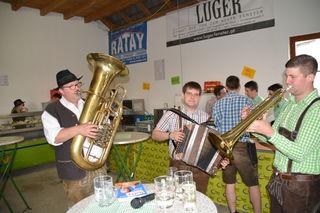 """Die """"Frühschoppen-Musi"""" sorgte für tolle Unterhaltung: Andreas Streimelweger, Andreas Fahrngruber und Sebastian Krenn."""
