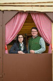 Organisierten die Bezirksmostkost: Die Landjugend-Leiter Anna- Maria Handl aus Oberndorf an der Melk und Julian Krumböck aus St. Georgen an der Leys.