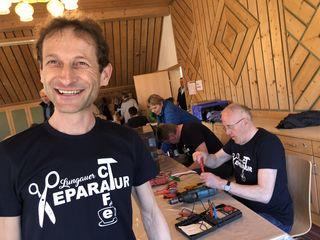 Peter Pagitsch hatte gut Lachen: es herrschte Hochbetrieb in Unternberg.