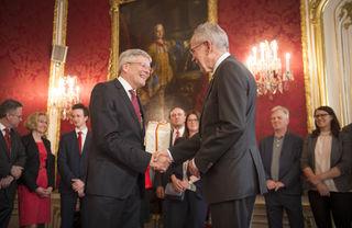 Angelobung von Landeshauptmann Peter Kaiser durch Bundespräsidenten Alexander Van der Bellen in der Hofburg