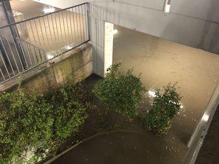 "Das Shoppingcenter ""Citypark"" stand unter Wasser."