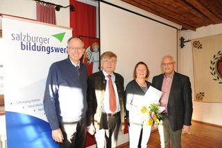 LAbg. Bgm. Manfred Sampl, Josef Sampl, Christine Ramspacher, RR Robert Grieflner.
