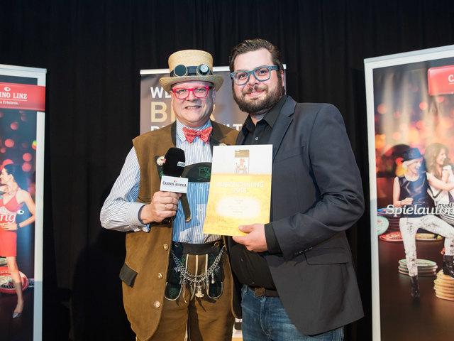 Bierpapst Conrad Seidl (li.) gemeinsam mit Irish-Inhaber Dino Karger.