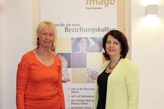 Ausbildnerin und Einrichtungsleiterin Evelin Brehm (li.) mit Susanne Pointner, Präsidentin der Imago Gesellschaft.