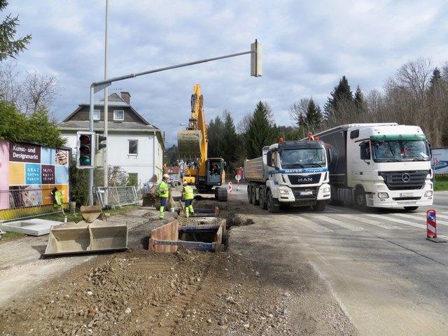 Für die letzte Bauphase in der St.-Peter-Hauptstraße muss eine Umleitung eingerichtet werden.