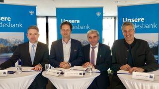 Positive Bilanz: Alexander Weiß, Wilfried Stauder, Hans-Peter Hörtnagl, Johannes Haid
