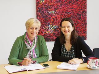 Bürgermeisterin Ursula Puchebner mit Landtagsabgeordneter Bürgermeisterin Mag.a. Kerstin Suchan-Mayr