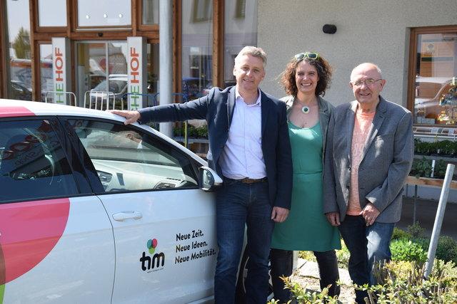 Auf Tour durch die Region: Lambert Schönleitner, Johanna Tentschert und Ernst Hermann.
