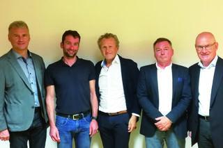 Die Vertreter der Sportunion: Walch, Kleineberg, Hrubisek, Gruber und Herker (v.l.n.r.).