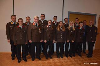 Fast 50 Mitglieder der FF Tolleterau nahmen an der Vollversammlung teil.