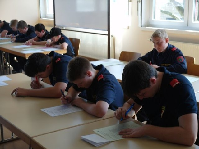 Die Feuerwehrjungend Frankenfals beim Wissenstest