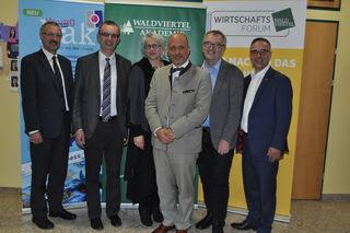 Roland Senk, Rudolf Mayer, Martina Dorfinger, Roger Hage Ernst Wurz und Christof Kastner.