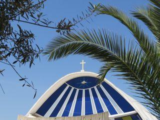 Neben unzähligen alten Kirchen, Basilikas und Moscheen, sticht diese moderne Kirche in Nicosia als ein außergewöhnliches Wahrzeichen der geteilten Hauptstadt hervor!