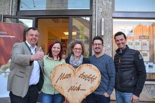 Der Vorstand der Wirtschaft St. Michael lud ein: Dietmar Trausnitz, Petra Rossmann, Sonja Kalb, Maximilian Hutter, Christian Pritz