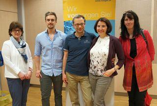 Sigrid Spörk-Ruttner (ARGEF), Martin Nossek (NÖGKK), Michael und Jaquelin Thanner und Hildegard Gehringer (AKNÖ)