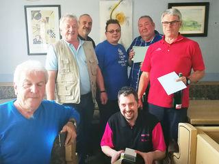 (v.li.n.re.): Gerhard Öllinger, Bert Schausberger, Edmund Maier, Daniel Riha, Werner Kubak, Manfred Feyrer und Martin Leitner (sitzend).