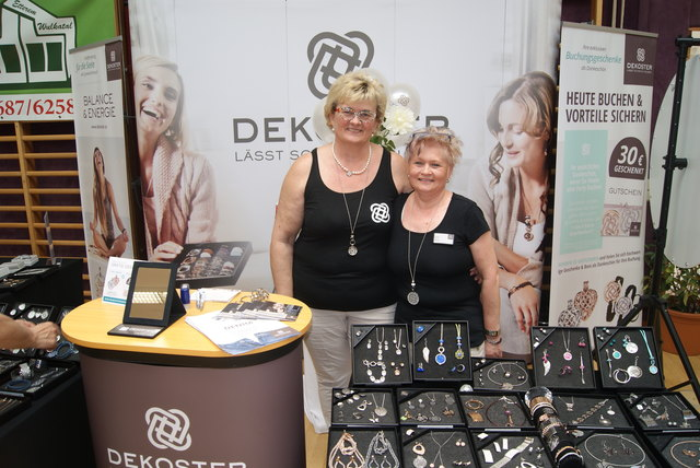 Organisatorin Ingrid Carich und Kollegin Edith Koller.