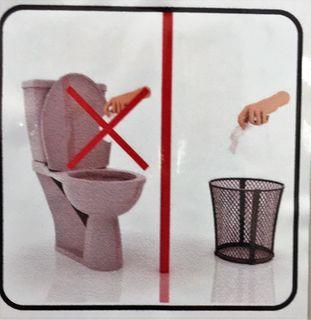 Ich bin schon viel in der Welt herumgekommen, aber das hab ich nur in ZYPERN erlebt: Am WC muss das gebrauchte Toilettenpapier separat in einem Abfallkorb oder Kübel entsorgt werden!?!?