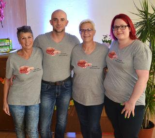 Elfriede Wacha, Kristjan Wolf, Petra Miedler und Nicole Osterbauer.