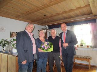 75er in Maria Lanzendorf: Michael Lippl, Erika und Hermann Steindl, Peter Wolf