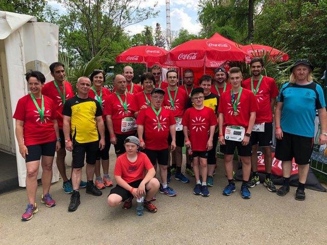 TeilnehmerInnen vom Team Dornau bem 35. Vienna City Marathon
