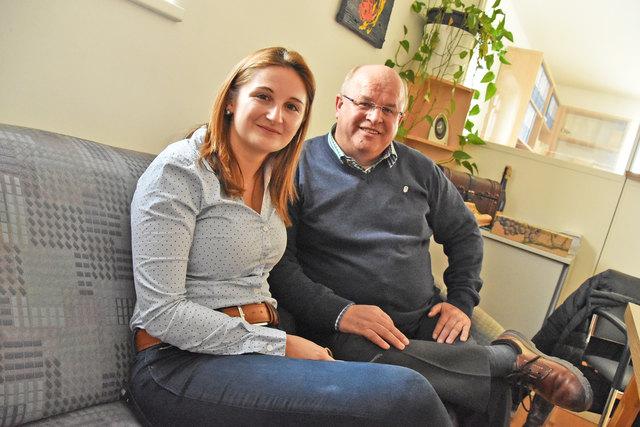 Partei-Landeschefin Marlene Svazek und Ernst Lassacher, der voraussichtlich Landtagsabgeordneter werden wird.