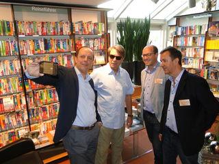 Selfie zum Auftakt: v.l.: Bgm. Christoph Stark, Peter Rosei, Gerwald Hierzi, Claus Schwarz