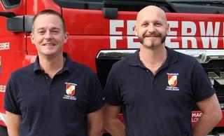 OBI Markus Posch und HBI Robert Krenn laden mit ihren Kameraden von der FF Tobelbad-Haselsdorf zum Florianifrühstück mit Maibaumaufstellen.