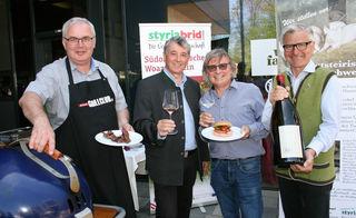 Hans-Peter Bäck (Styriabrid GmbH), Weinbaudirektor Werner Luttenberger, Walter und Erich Polz (Vinofaktur Genussregal).